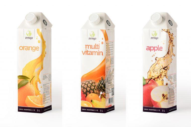 productfoto's van juice pakken